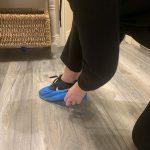 Blue Shoe Demo at Laurel Lodge Shopping Centre Salon
